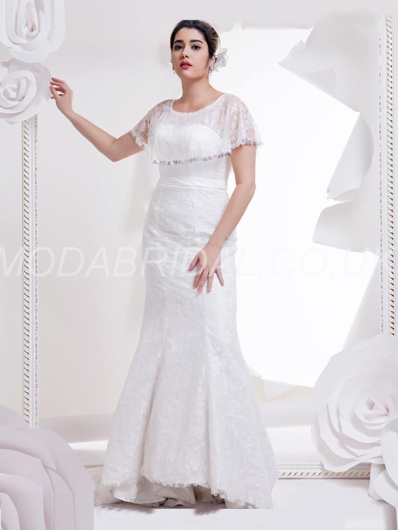 Winter wedding dresses plus size  modabridal SUPPLIES Tailor made Winter Cap Sleeves Church Fall