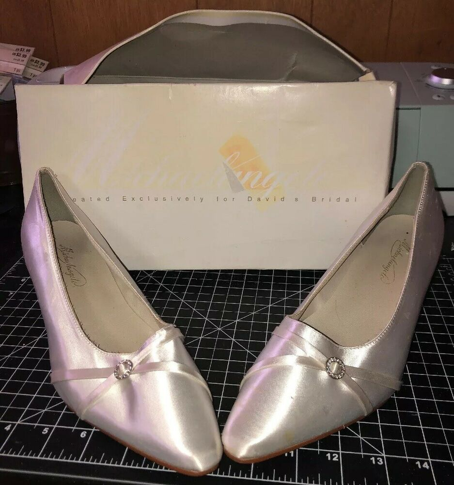 David Bridal White Wedding Shoes Michaelangelo Women S 8 5 W Wide