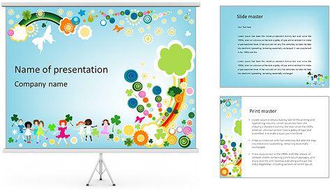 niños ilustración plantillas de presentaciones powerpoint y fondos
