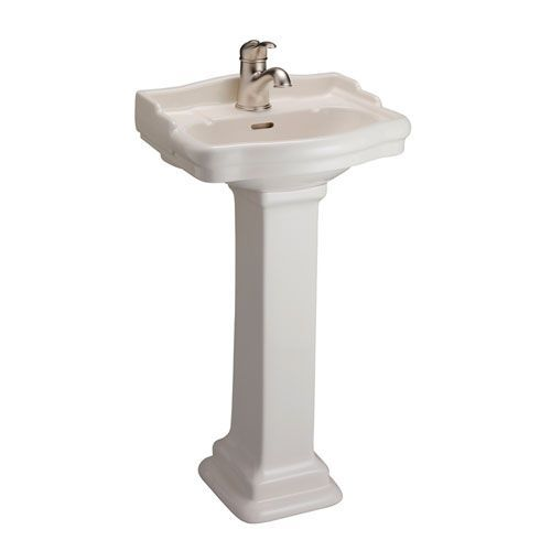 Stanford Bisque 460 Pedestal Sink One Hole Small Pedestal Sink