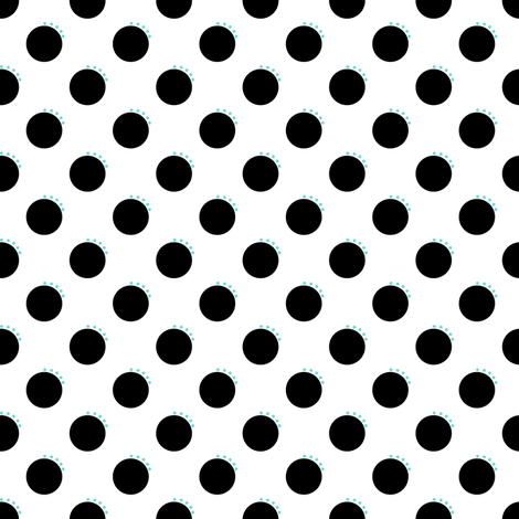 Colorful Fabrics Digitally Printed By Spoonflower Quirky Black And White Polka Dots Polka Dots Black And White Black Dots