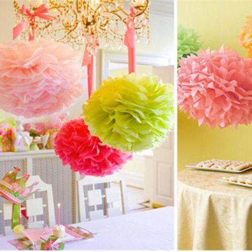 "Tissue Paper Ball Decorations 6""14"" Tissue Paper Pom Poms Flower Balls Wedding Birthday Party"