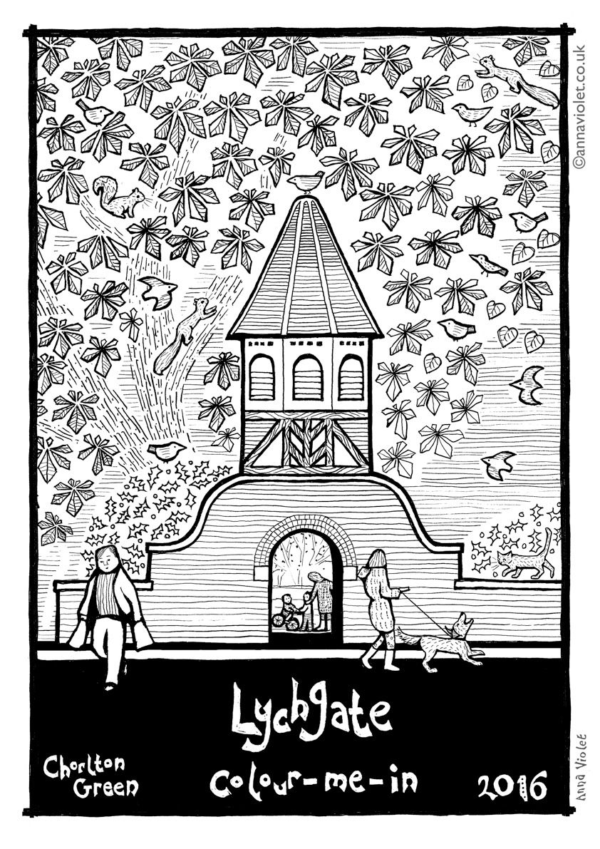 Anna Violet\'s Chorlton Lychgate is an engrossing colour-in activity ...