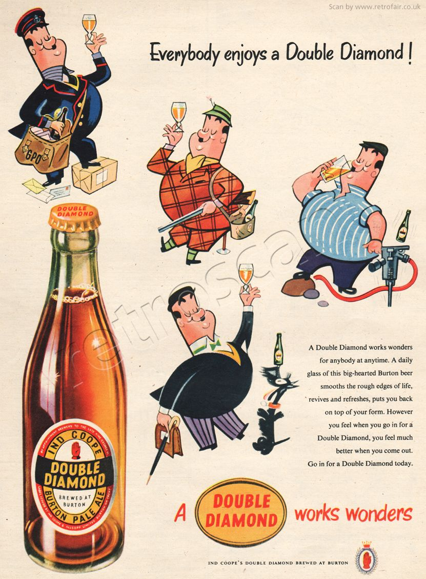 1954 Double Diamond Pale Ale Beer