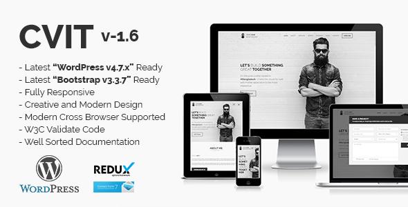 Cvit  Multipurpose Personal Portfolio  Vcard  Cv  Resume