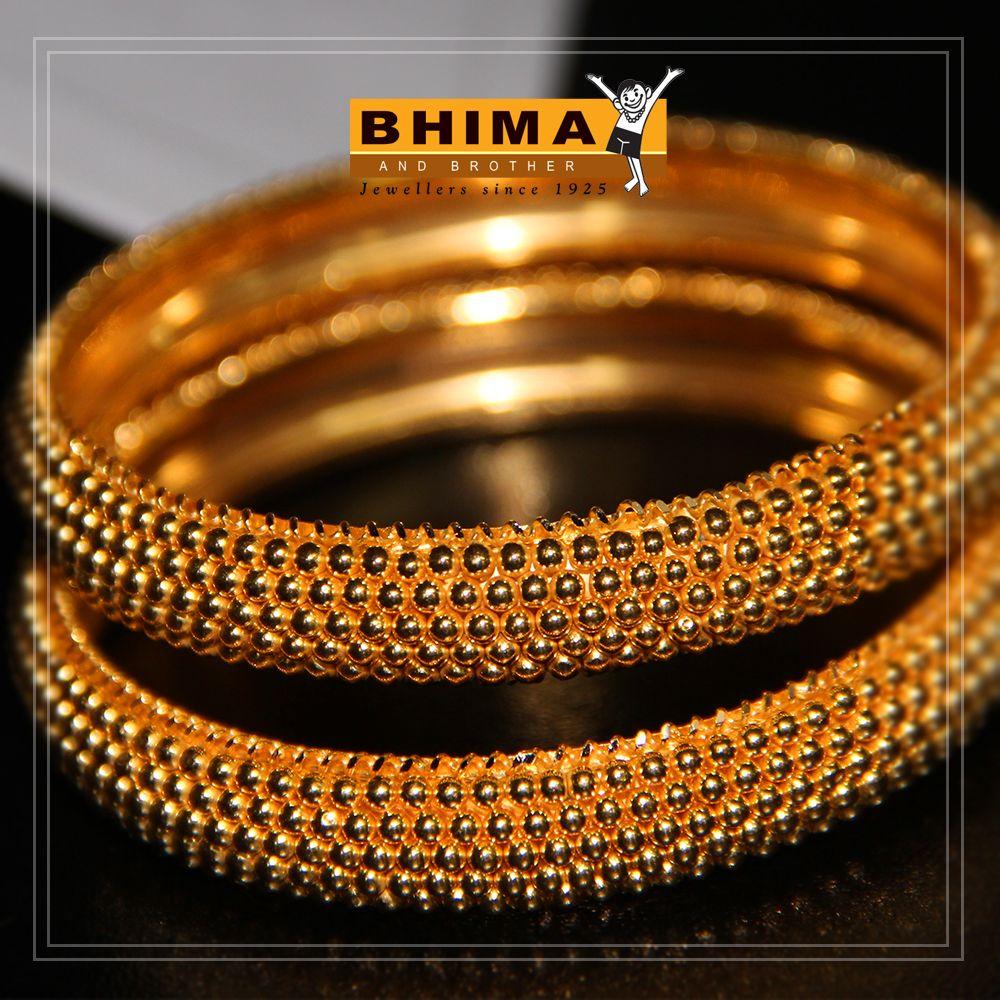 Bhima Jewelry Gold Bangles Plain Jewelry Classic Jewelry Indian Brides Jewelry