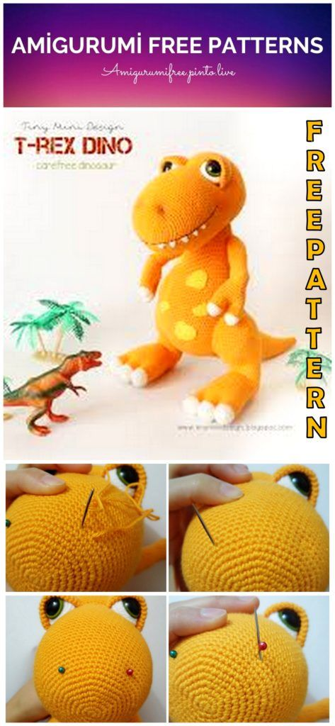 T- Rex crochet pattern, english version | 1024x473