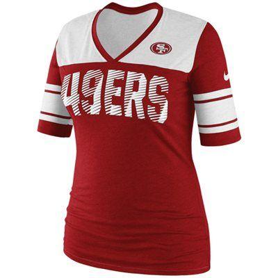 Nike San Francisco 49ers Touchdown Women's V-Neck