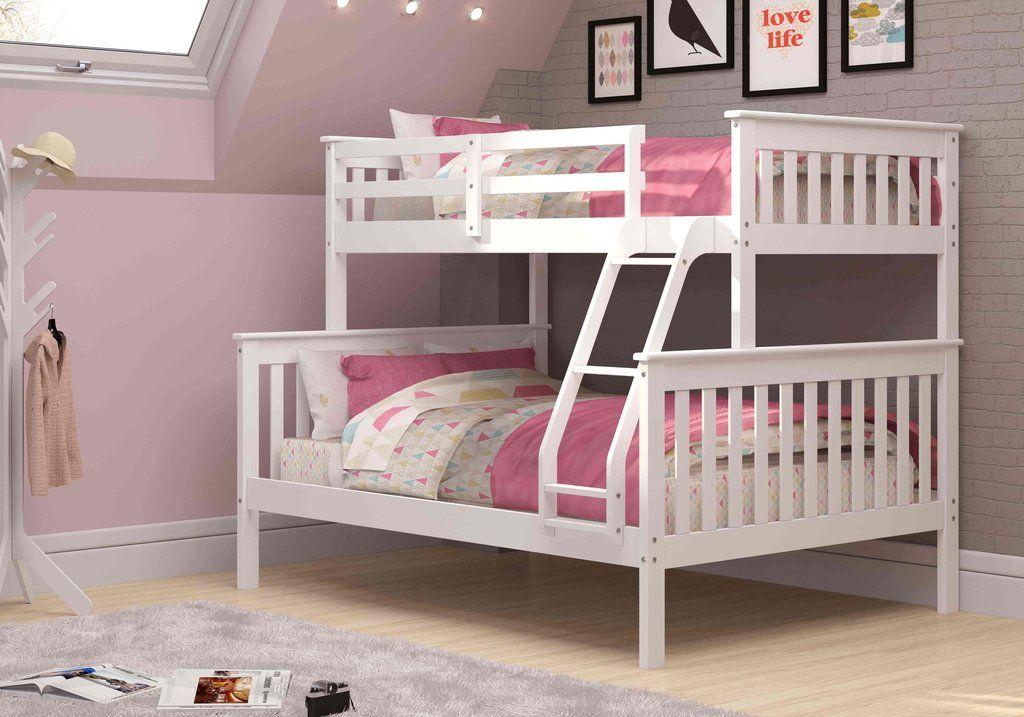 Hazel White Bunk Bed White bunk beds, Bunk beds, Bunk