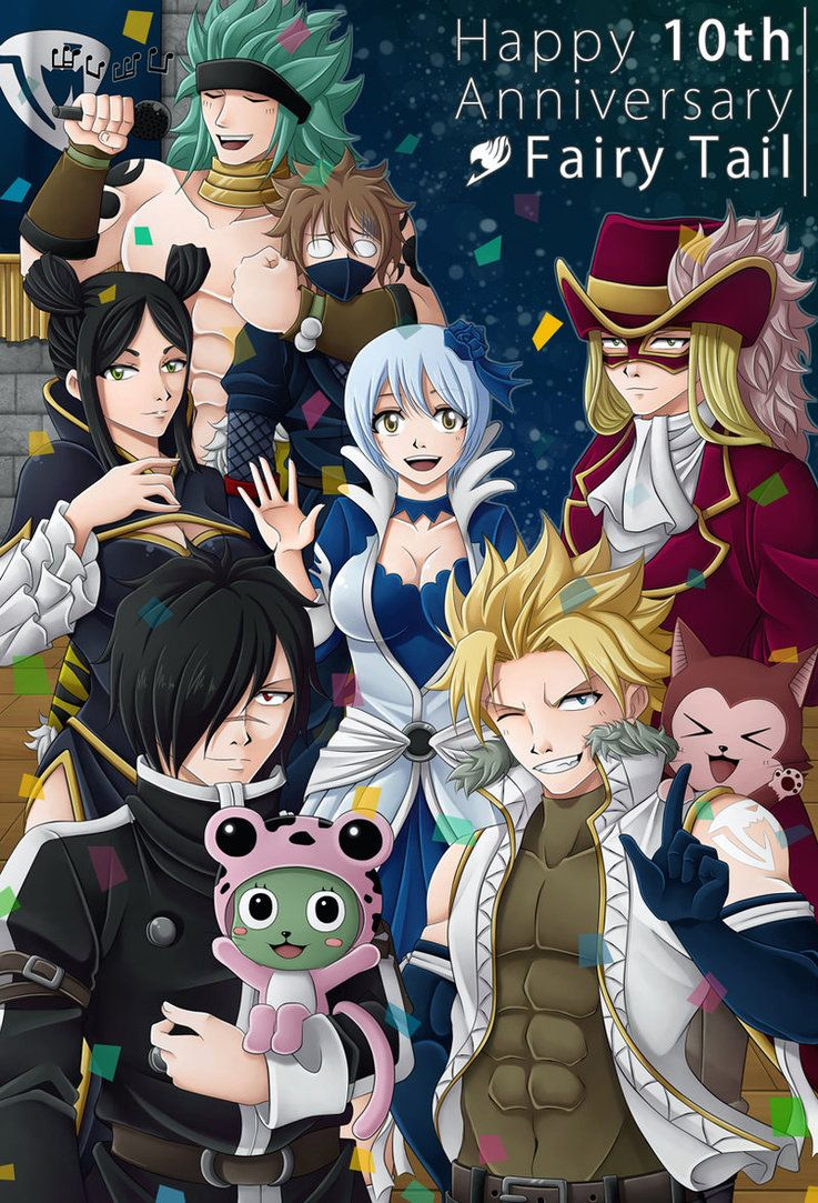 FairyTail's 10th Anniversary by CelestialRayna.deviantart.com on @DeviantArt