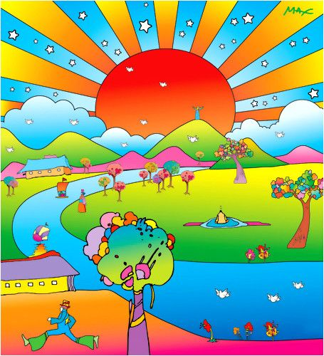 'Sustain World' by PETER MAX | paintings | Pinterest ... Peter Max 60s