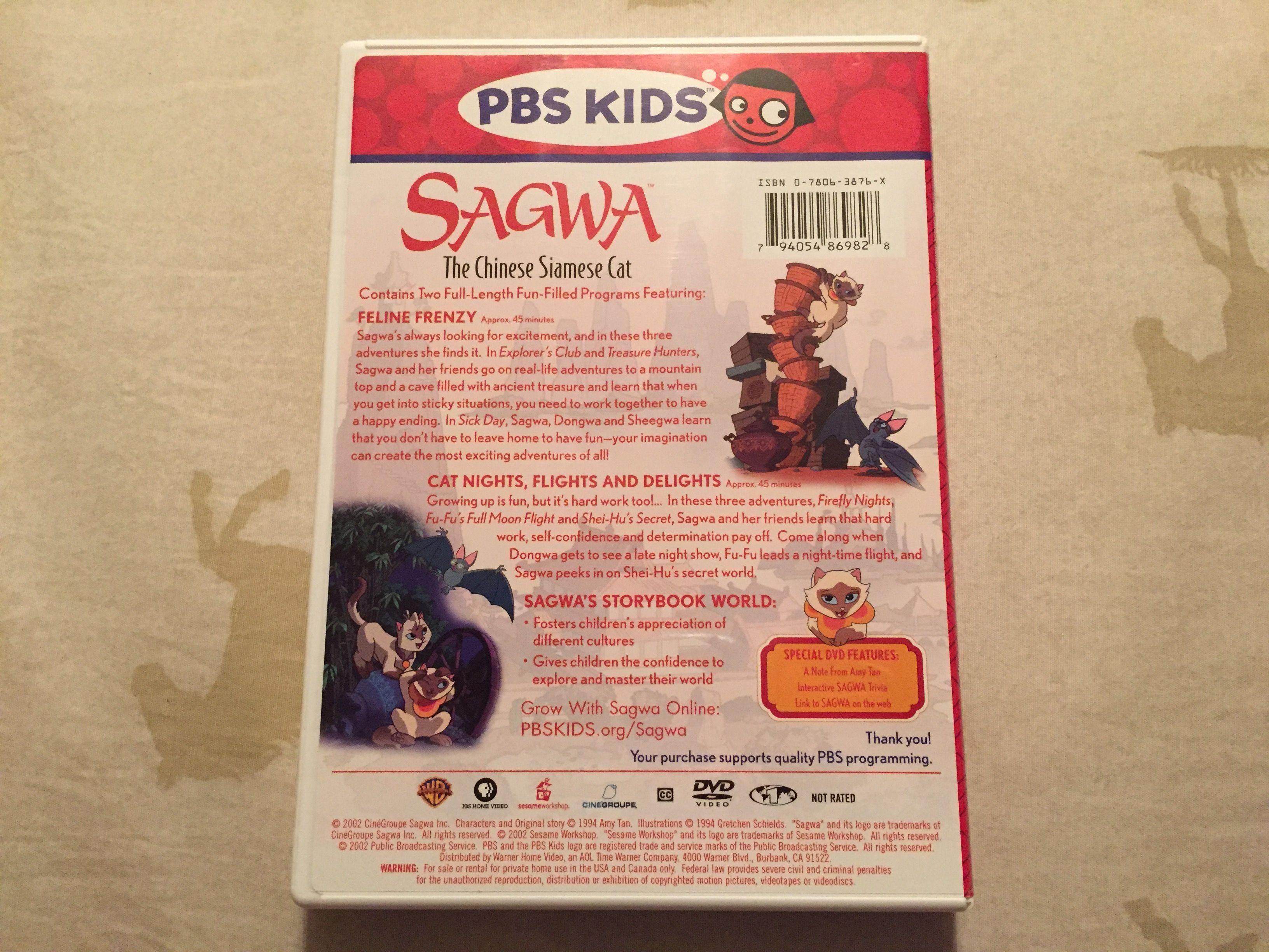 Sagwa Sagwa S Storybook World 2002 Dvd Pbs Kids Storybook Vhs To Dvd