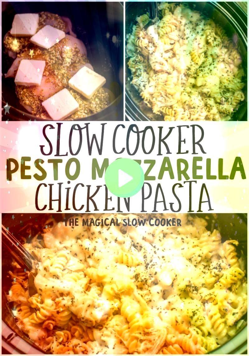 Cooker Pesto Mozzarella Chicken Pasta  The Magical Slow CookerSlow Cooker Pesto Mozzarella Chicken Pasta  The Magical Slow Cooker Is it pumpkin pie Is it cheesecake Its b...