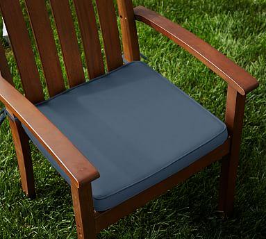 sunbrellar piped outdoor dining chair cushion sapphire