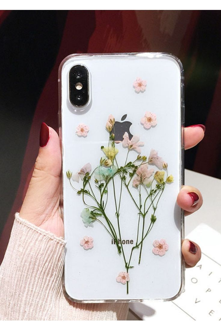real Pressed flower case Iphone X case Iphone XS case Iphone XR case Iphone XSMAX case Iphone 11 pro max case clear floral case iphone 7