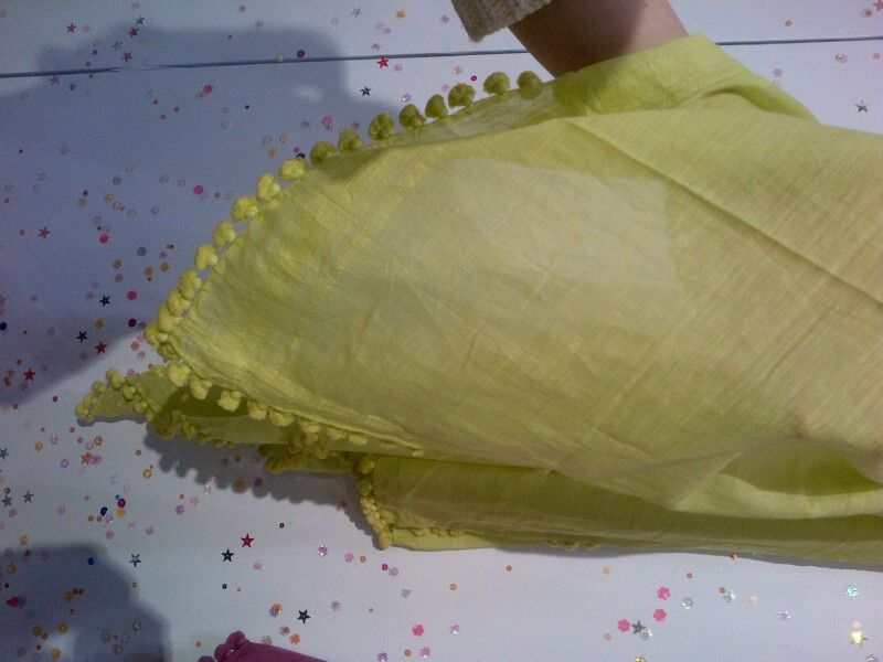 This is a dupatta--a scarf that Indian women wear as a symbol of modesty.