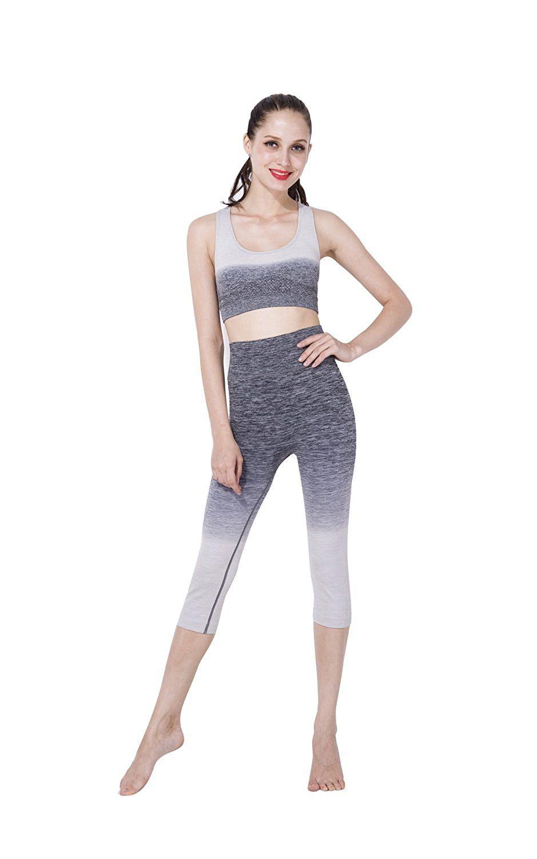 Rinhoo Yoga Women's 2piece Set Gym Sports Bra Top Legging