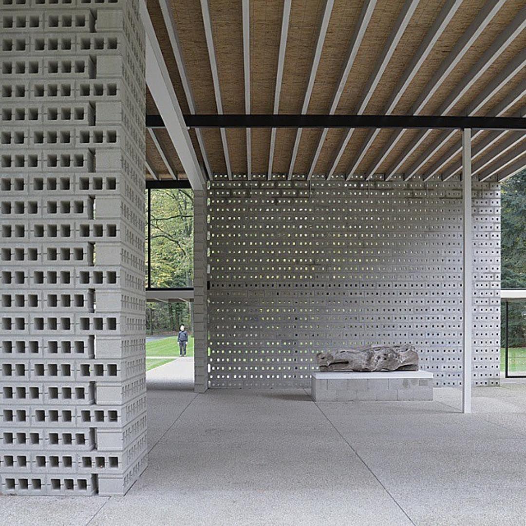Souda On Instagram Gerrit Rietveld Pavillion At Kroller Muller Museum Via Paulkomada Concrete Block Walls Concrete Blocks Decorative Concrete Blocks