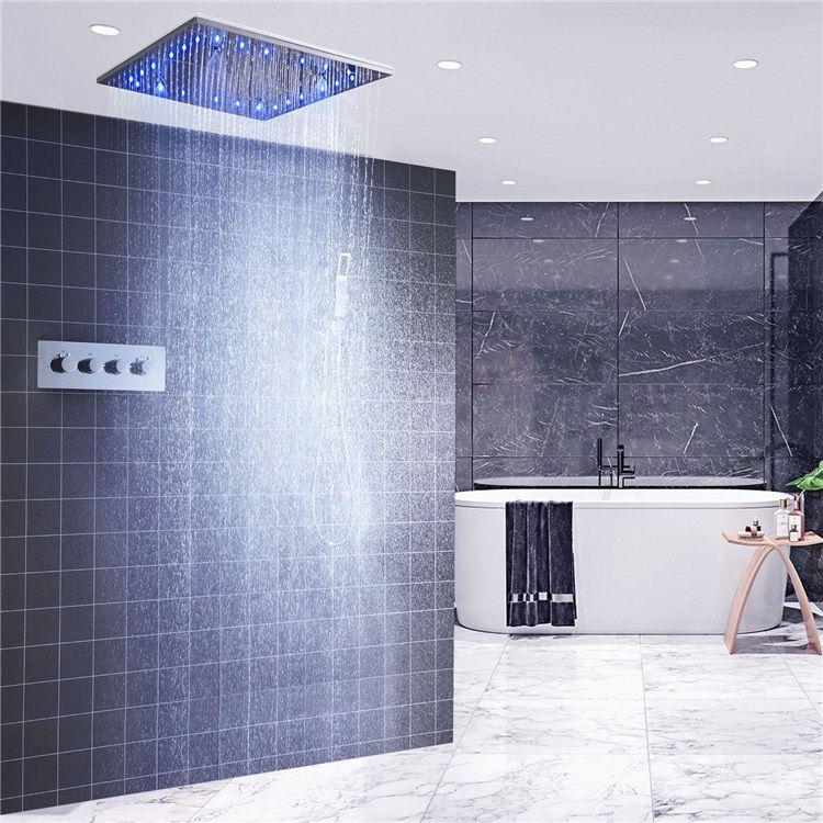 Led埋込形シャワー水栓 サーモスタット式混合栓 シャワーシステム