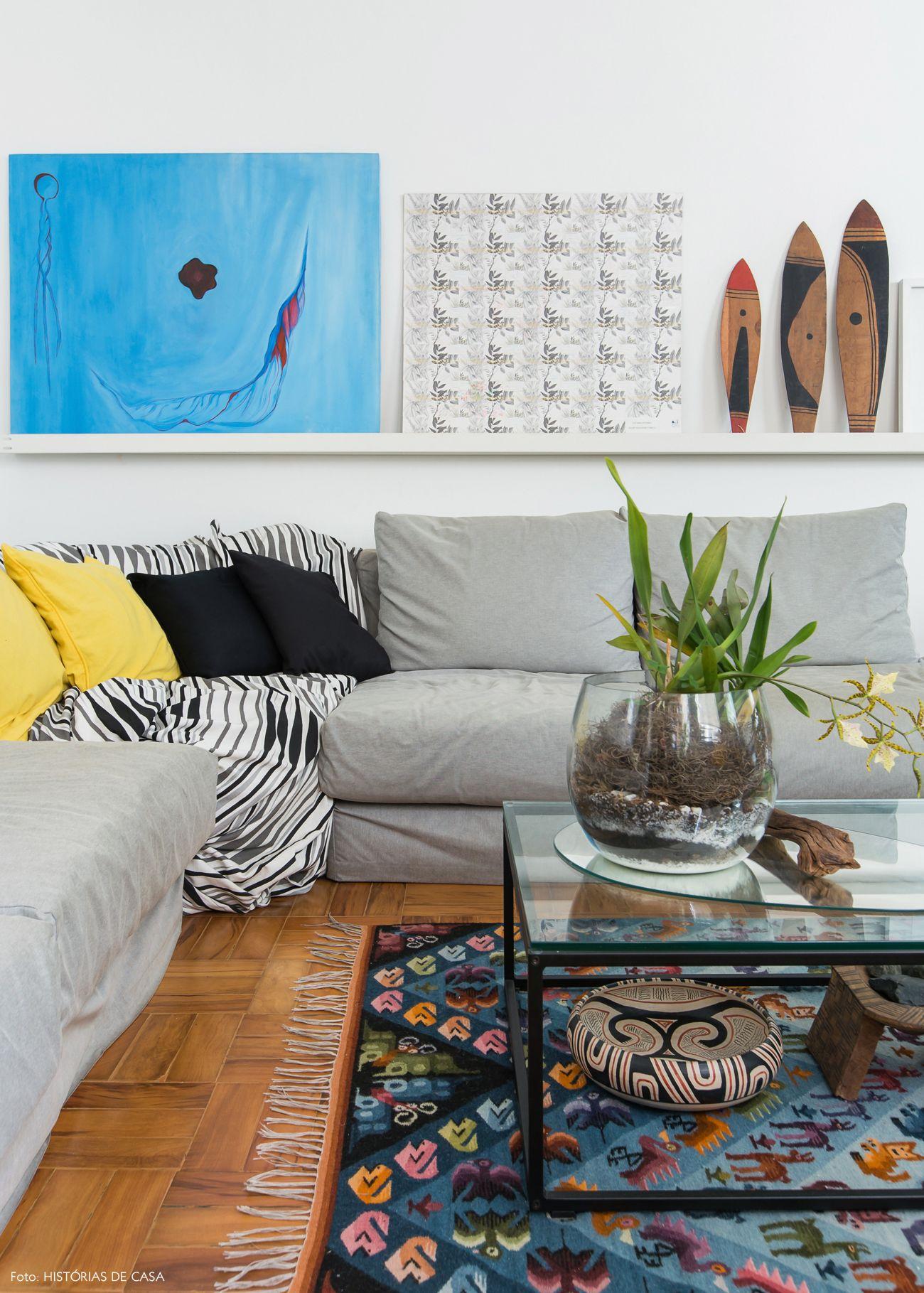 sofa cinza e almofadas coloridas ikea usa covers viver sem pressa sala de estar living room pinterest