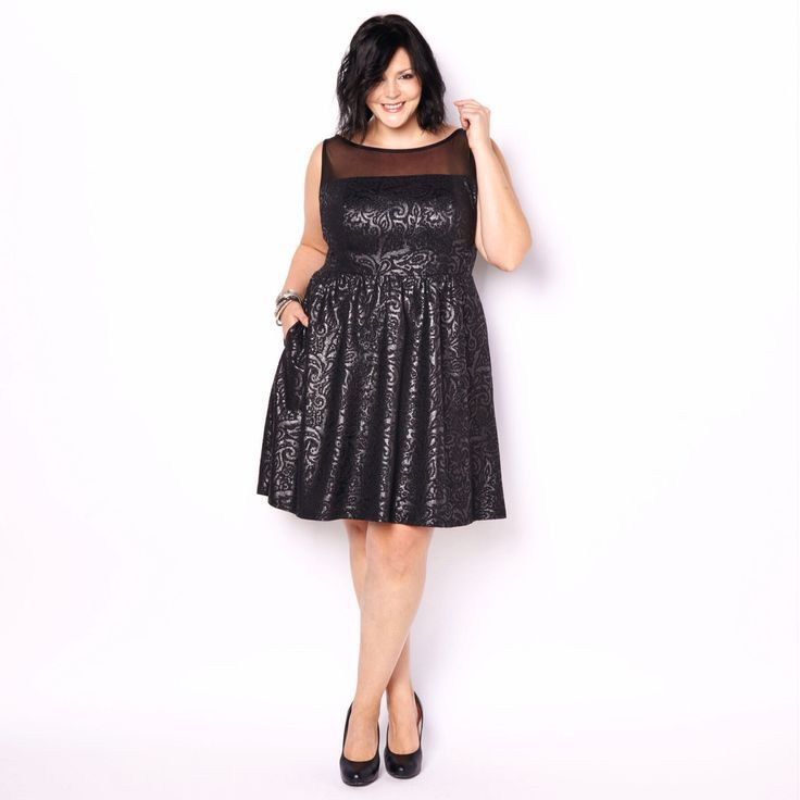 Awesome Cocktail Dresses Christmas party dress - Plus size - black
