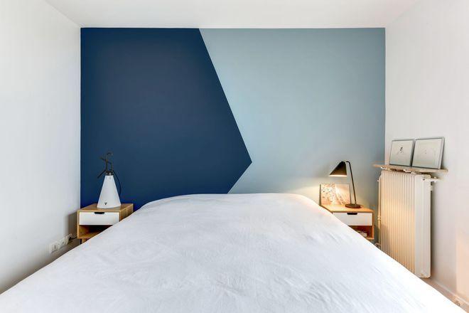 Esprit graphique pour la chambre bicolore