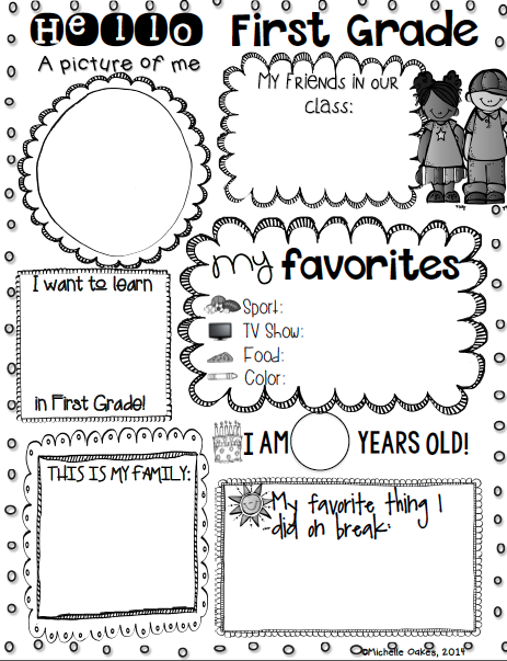 Getting to Know You! Freebie (Fabulous in First