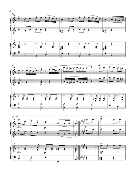 A Dream Is A Wish Your Heart Makes Flute Sheet Music Turkish March 1 Piano 4 Hand Duet By Wolfgang Amadeus Mozart 1756 1791 Digital Sheet Music For Piano Duet 1 Piano Digital Sheet Music Sheet Music Mozart
