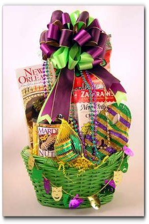 mardi gras chocolate coins mardi gras party basket fat tuesday gift basket themed gift