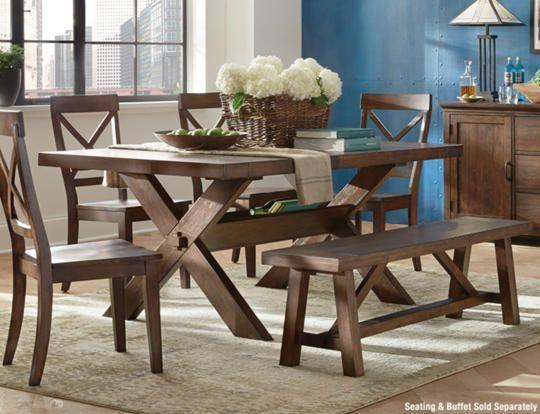 claremont trestle table - art van furniture $479 | decor