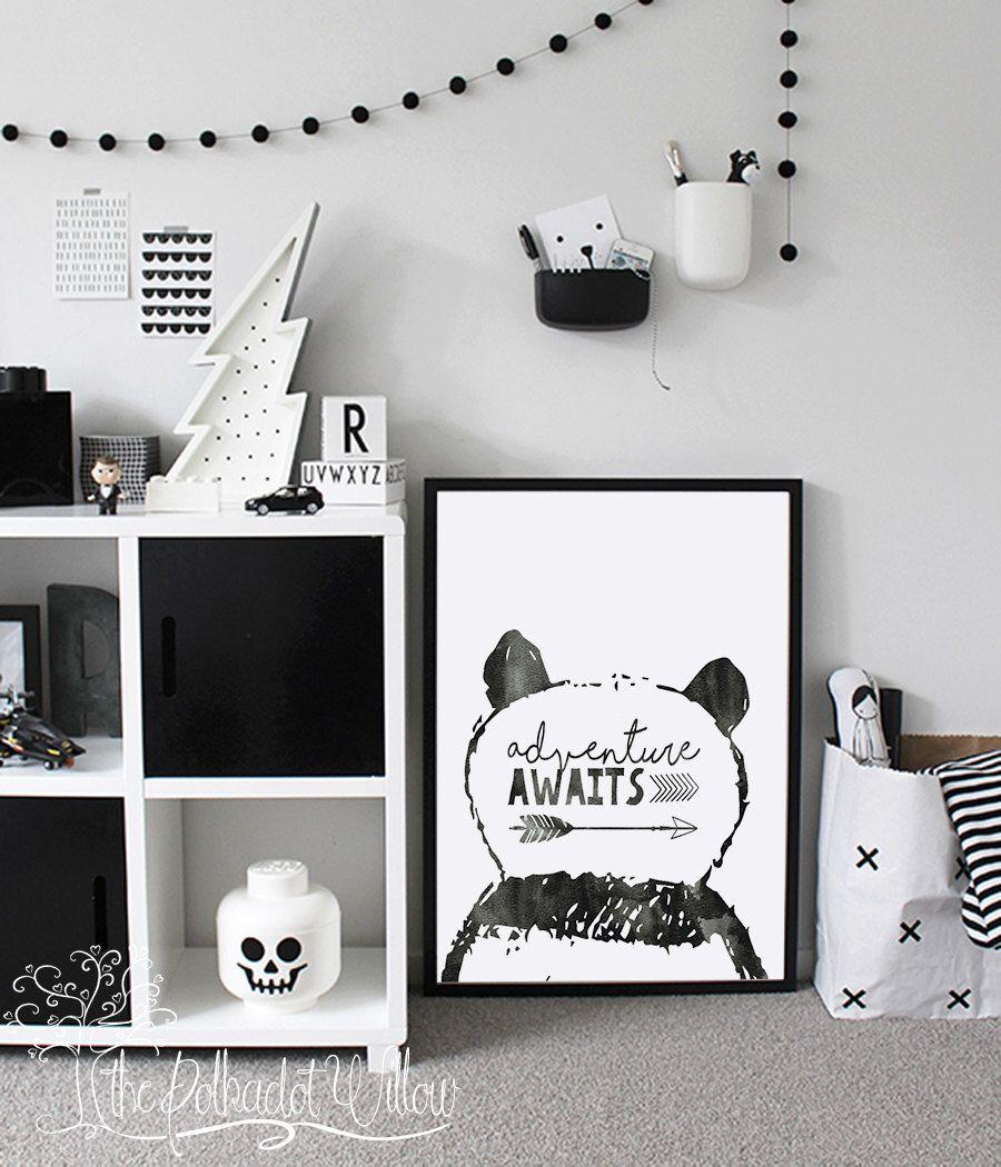 8x10 11x14 Panda Nursery print Animal Nursery
