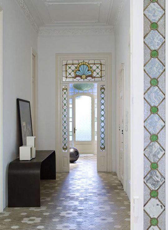 Baldosa hidraulica stained glass pinterest vidrio for Restauracion de puertas antiguas