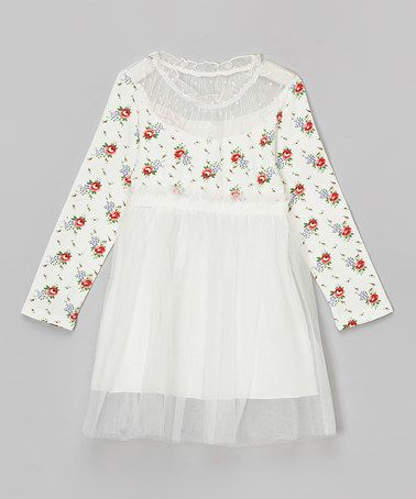 Look at this #zulilyfind! White Floral Dress - Toddler & Girls #zulilyfinds