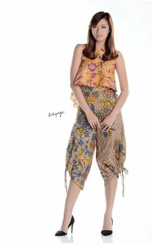 Dress Top Blouse Batik Indonesia Model Pakaian Pakaian Wanita