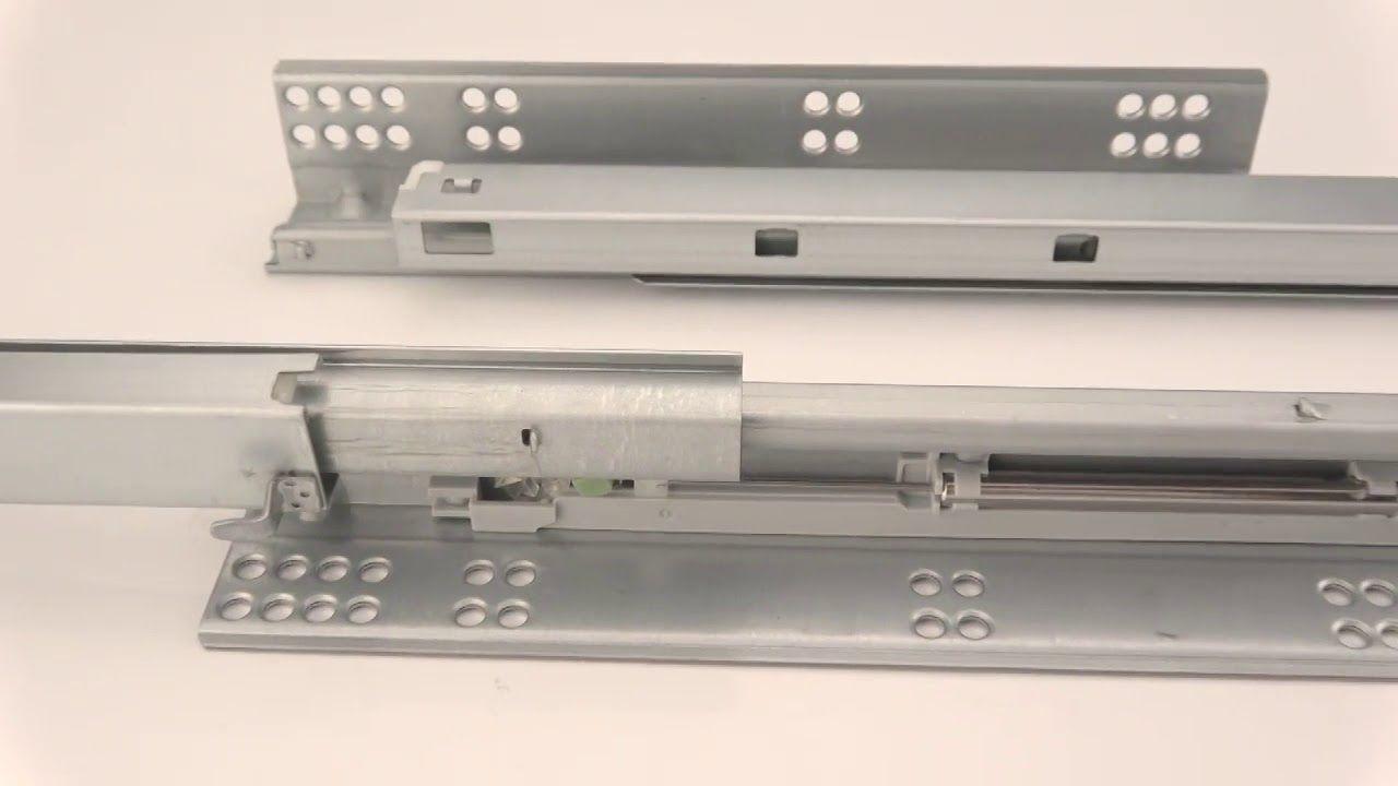 European Filta Hardware 3 Fold Full Extension Under Mounted Soft Closing Drawer Slides Hardware Fold