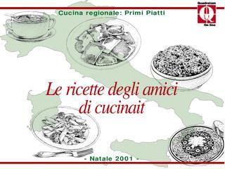 Cucina regionale primi piatti