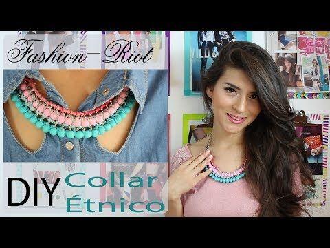 DIY Collar étnico - YouTube