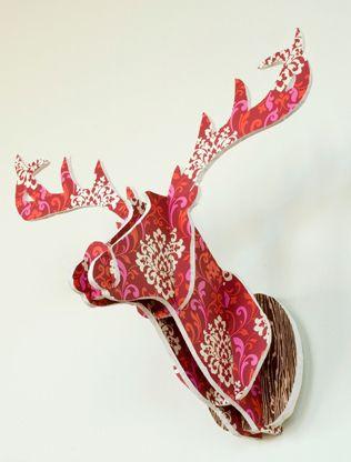 diy troph e de cerf id deer cerf pinterest tete de renne t tes de cerfs en carton et. Black Bedroom Furniture Sets. Home Design Ideas