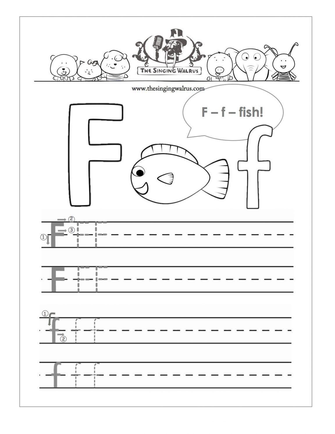Fine Free Printable Letter Worksheets For Preschoolers