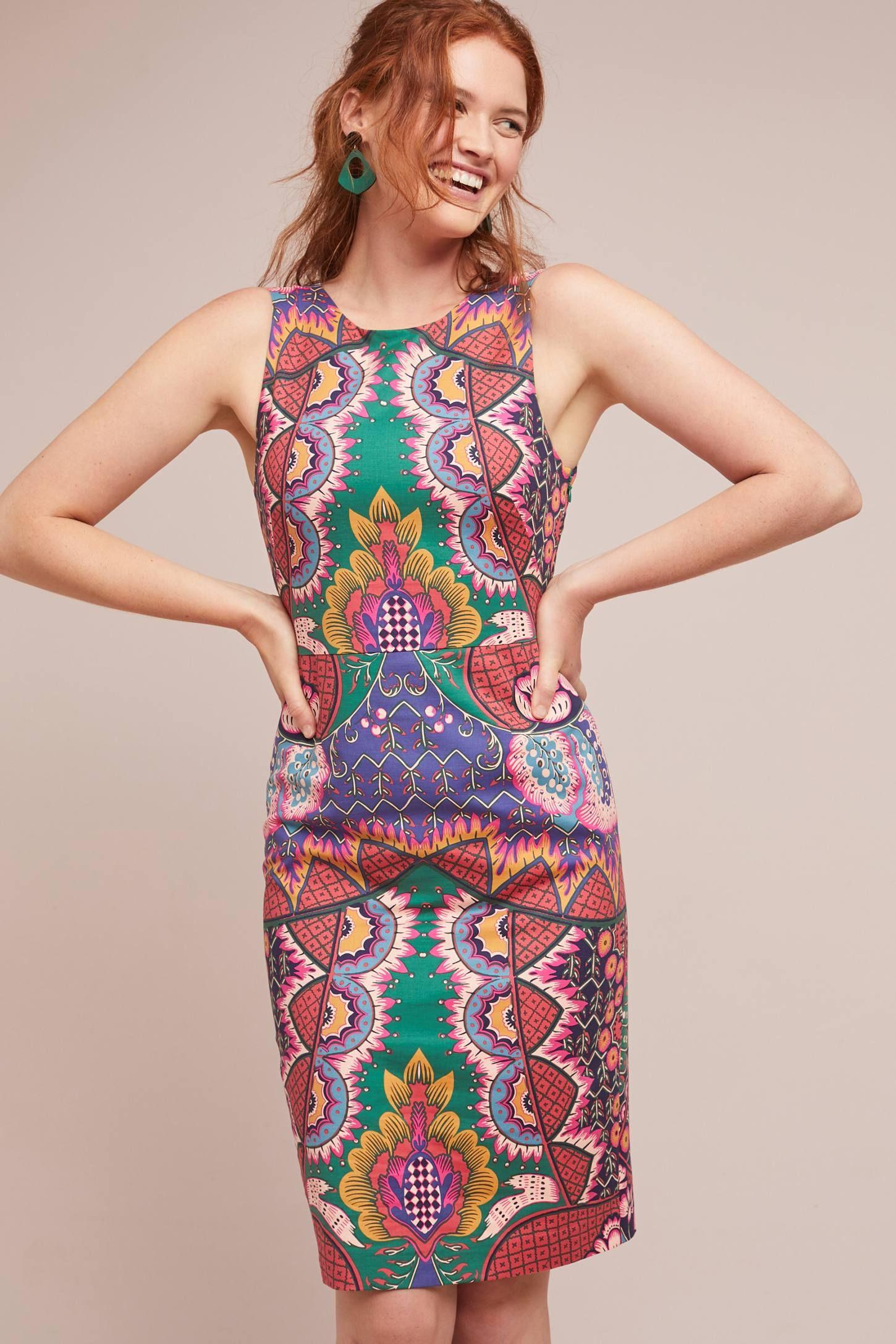 16ff3adb1a8e Kaleidoscope Column Dress | wearables | Column dress, Dresses, Fashion