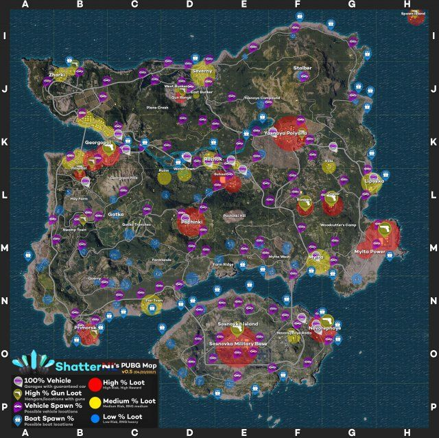 Pubg Best Loot And Spawn Locations Vehicles Boats Callouts