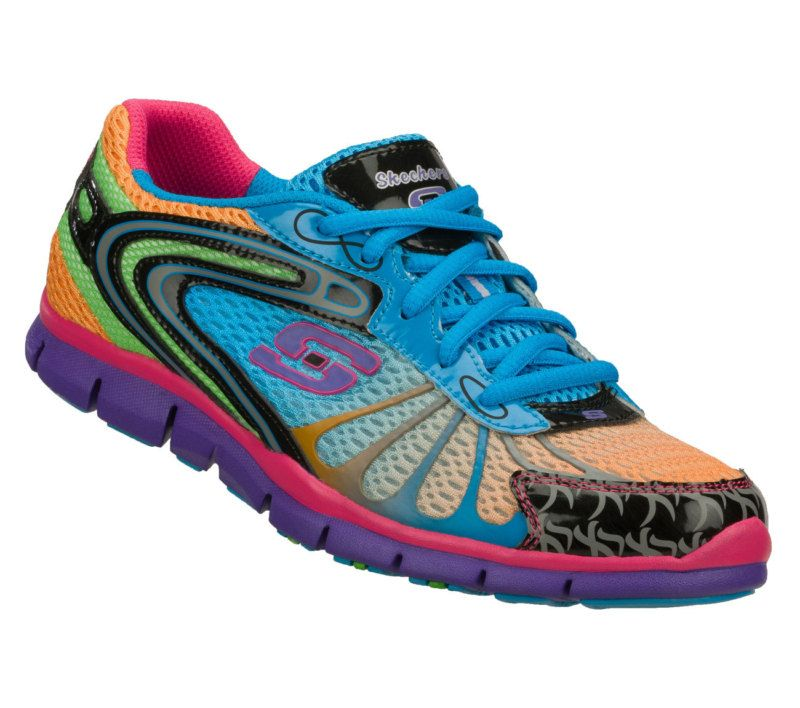 Flex Wild Color Skechers Gratis Women's Multi Running Shoes fI6gbyY7v