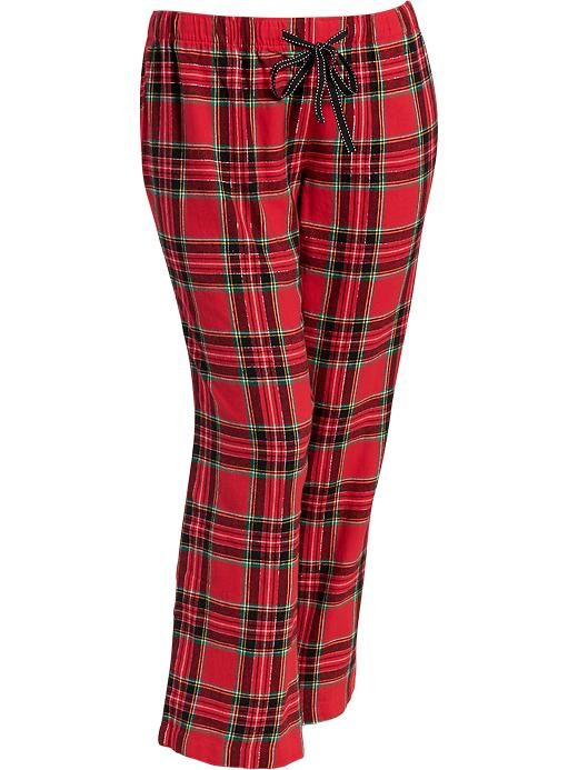 Women's Plus Patterned Flannel Lounge Pants Product Image