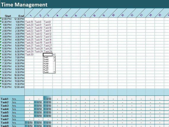 25 30 Tasks Time Tracker Excel Template Activity Diary Etsy Excel Templates Time Tracker Excel Spreadsheets