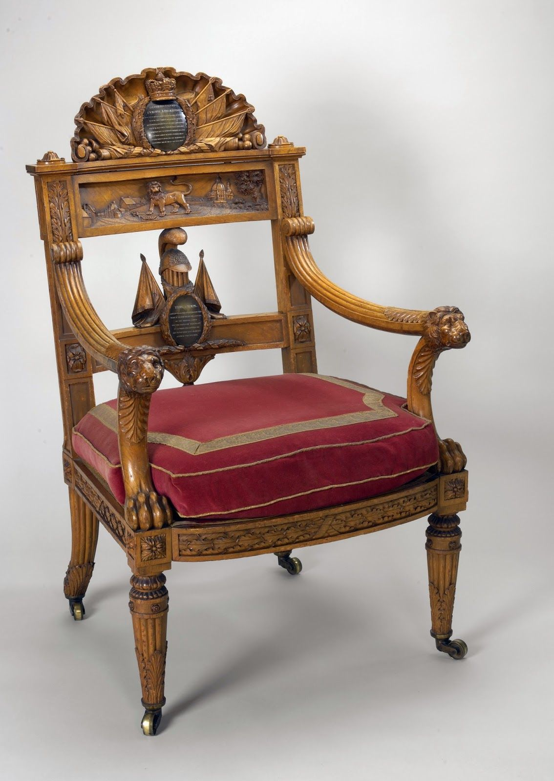 The Waterloo Chair Made By Thomas Chippendale The Younger Royal Collection Trust C Her Majesty Queen The Royal Collection Armchair Chair