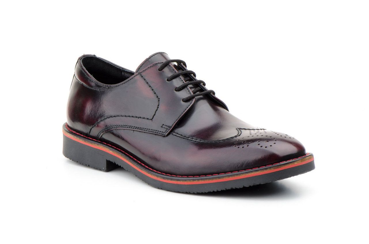 Blucher Hombre | Zapatos Piel | Florentic Burdeos