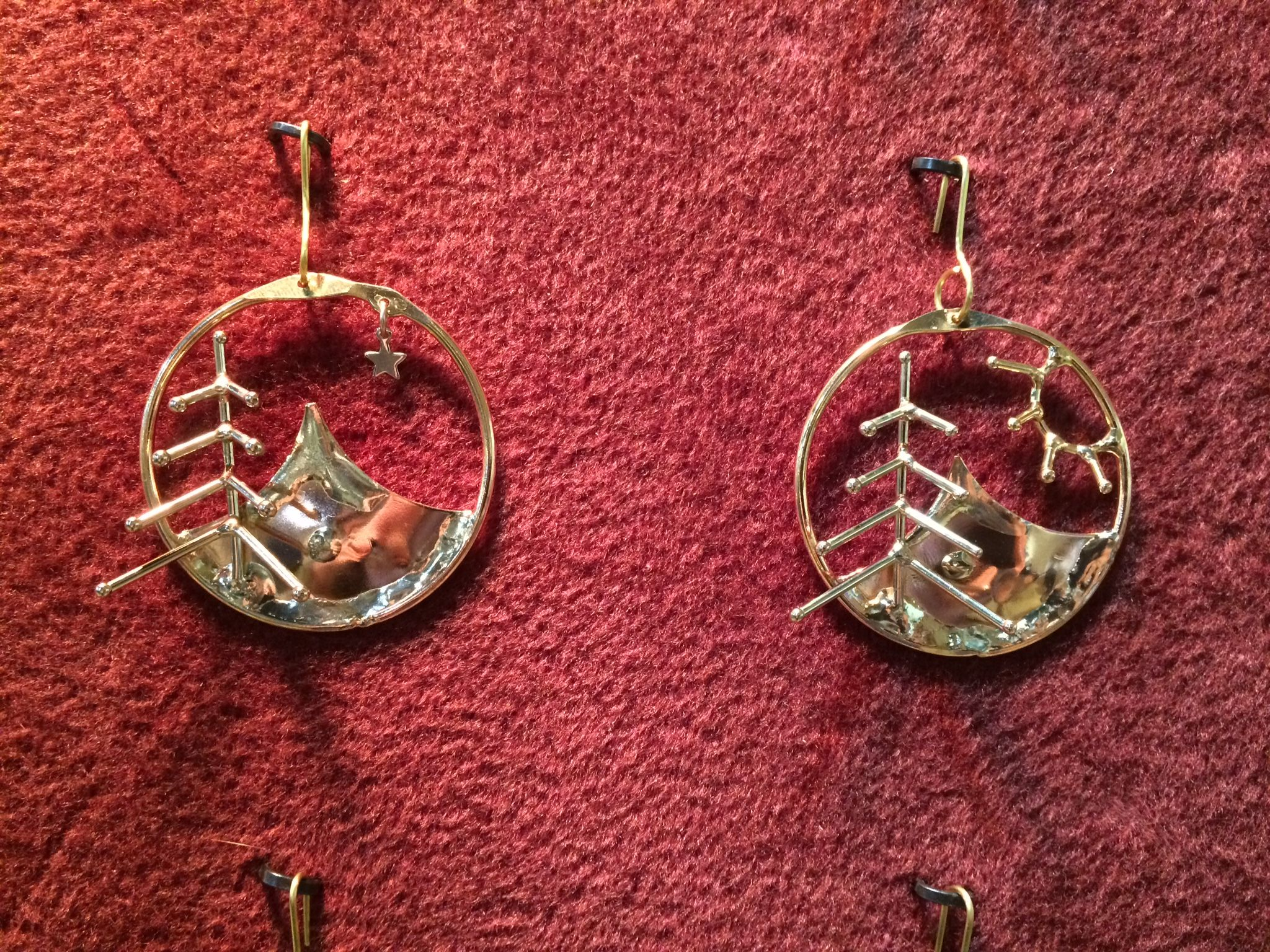 Oregon ornaments by Marti Spehar, Oregon Jewelry & Ornament Works