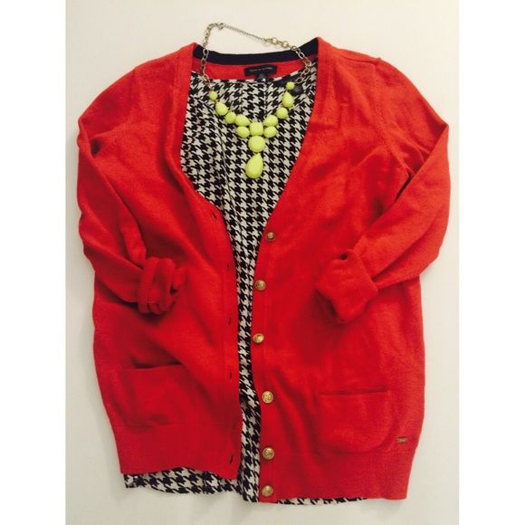 TOMMY HILFIGER red cardigan | Sweater cardigan, Buttons and Cardigans