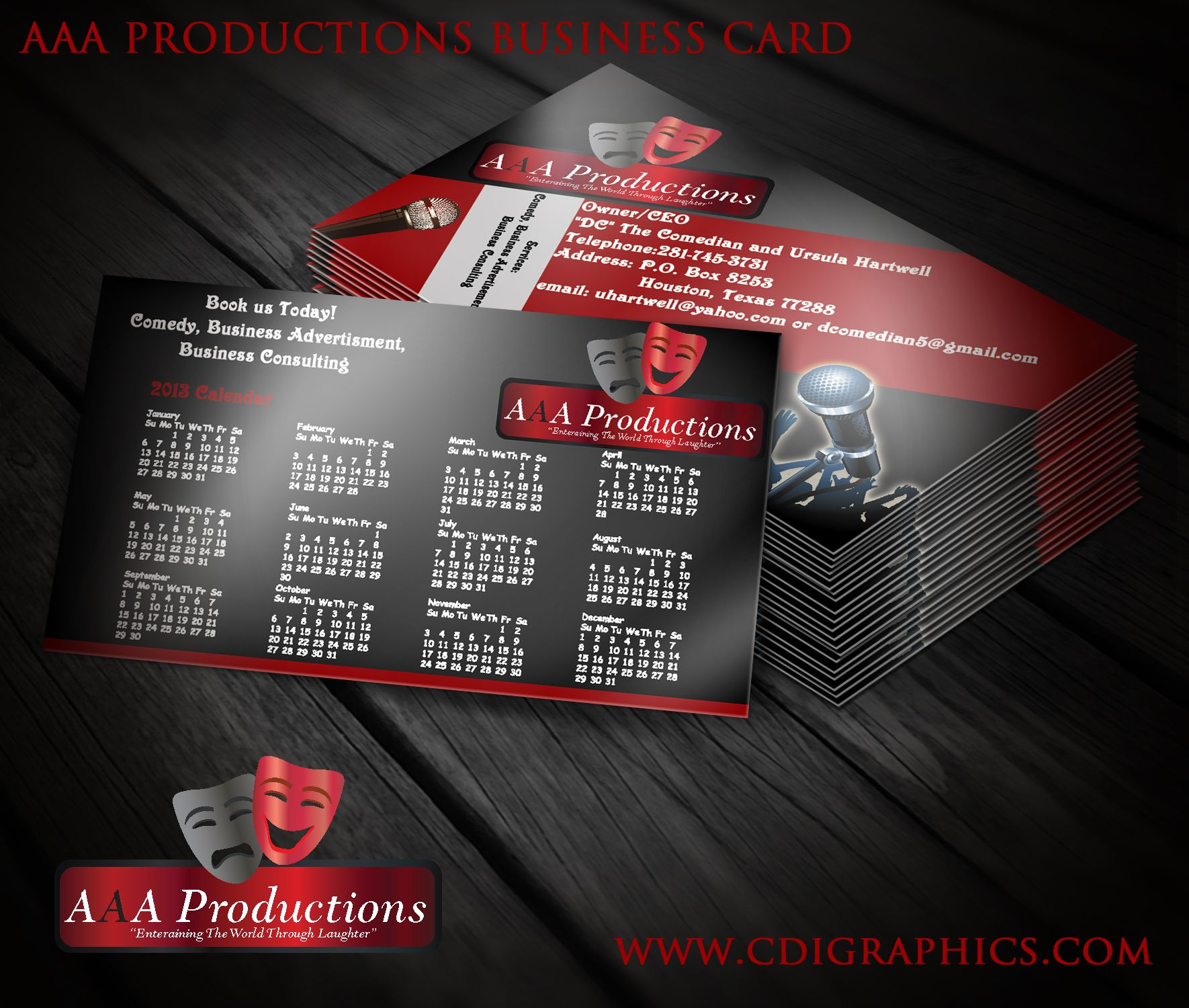 Aaa productions business cards and logo design cdstudios aaa productions business cards and logo design magicingreecefo Image collections