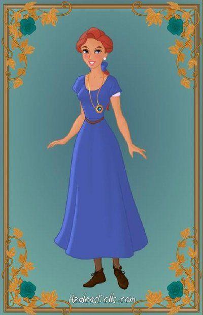 Anastasia Blue Dress By Indygirl89 Deviantart Com On